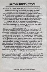 Contraportada de Autoliberación, Editorial Plaza y Valdés, 1991.