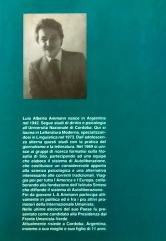 Contraportada de Autoliberación, edición italiana. Edicril Coop., Firenze, 1991.